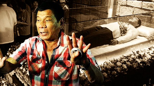 Duterte Will Allow Marcos To Be Buried At The Libingan Ng Mga Bayani
