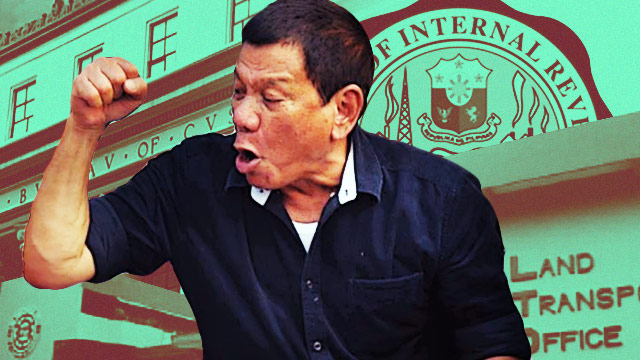Duterte Wants To Abolish The BIR, Customs, And LTO