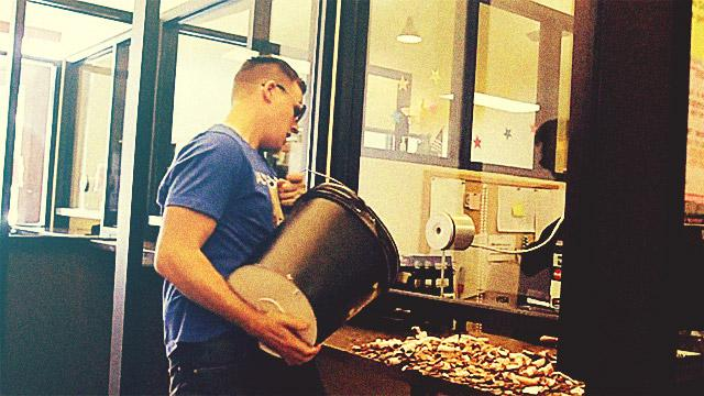 WATCH: Man Pays His Speeding Ticket With 22,000 Pennies