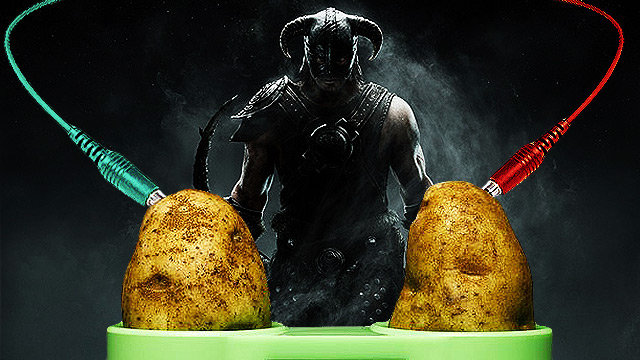 WATCH: Gamer Plays 'Skyrim' Using Potatoes For Controllers