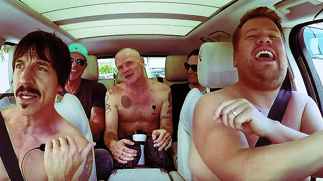 Red Hot Chili Peppers Wrestle, Strip, And Sing On 'Carpool Karaoke'