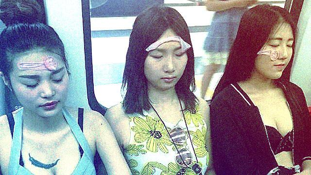 Why This Train Had Women With Condoms On Their Faces