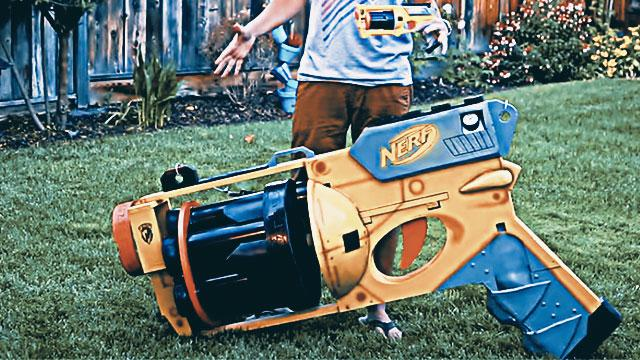 WATCH: Former NASA Engineer Builds The World's Largest Nerf Gun