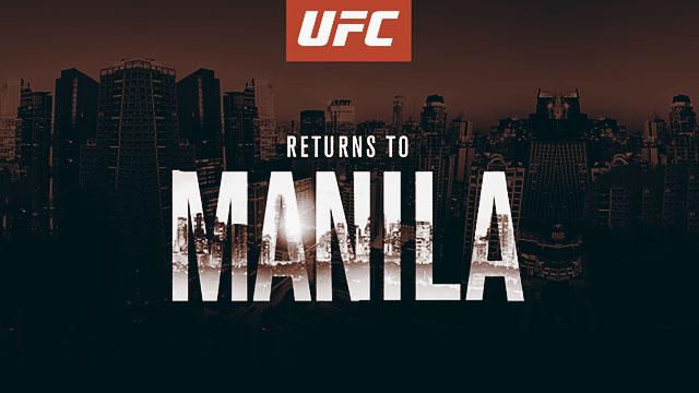 UFC Returns To Manila This October