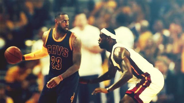 WATCH: It's Cavs LeBron Vs. Heat LeBron In This Incredible Video