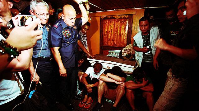 PNP Chief Bato Checks Out Floating Shabu Lab In Subic