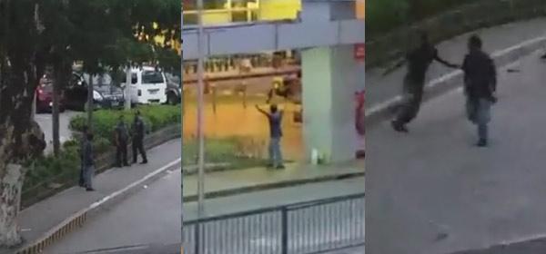 WATCH: Pangasinan Cops Look On As Gunman Flips Out In Public!