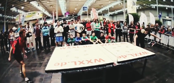 New Sport Alert: Here's The Crazy Head-Bangin' Fusion Of Table Tennis And Football!