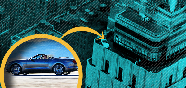 How Do You Put A Sports Car On Top Of A Skyscraper? Ford Shows Us