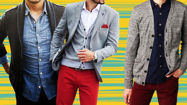 7 Ways To Wear A Cardigan Like A Man
