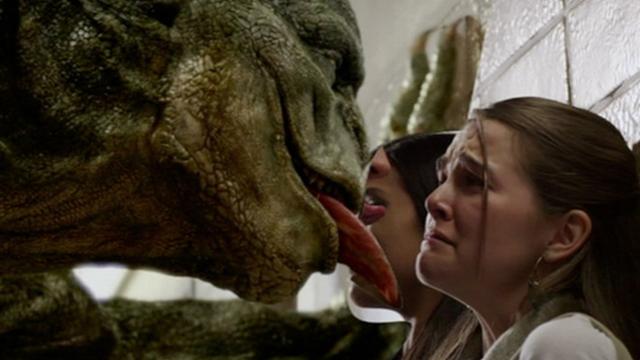 lizard man having a sex with Woman