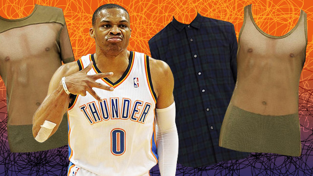 LOOK: Russell Westbrook Designs Shirts That No Man Should Wear