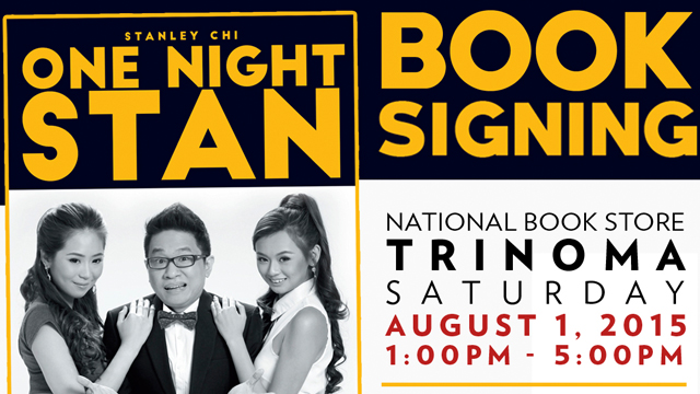 Master Suplado Stanley Chi Will Be Signing 'One Night Stan' Book At Trinoma