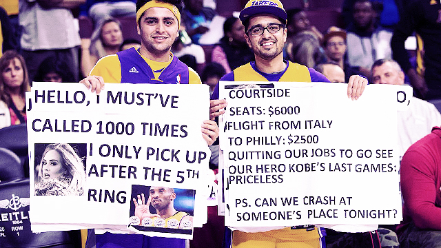 These Crazy Italians Quit Their Jobs, Flew To America, And Spent $30K To Follow Kobe's Farewell Tour