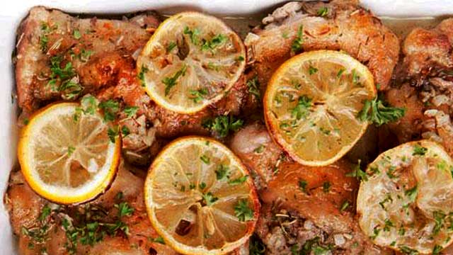 FHM's Weekend Cooking Challenge: Baked Chicken Thighs With Lemon And Garlic