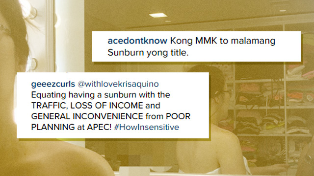 How Netizens Reacted To Kris Aquino's 'Sunburn' Post