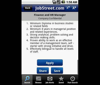 JobStreet goes mobile, releases app for iOS, Android, and BlackBerry users
