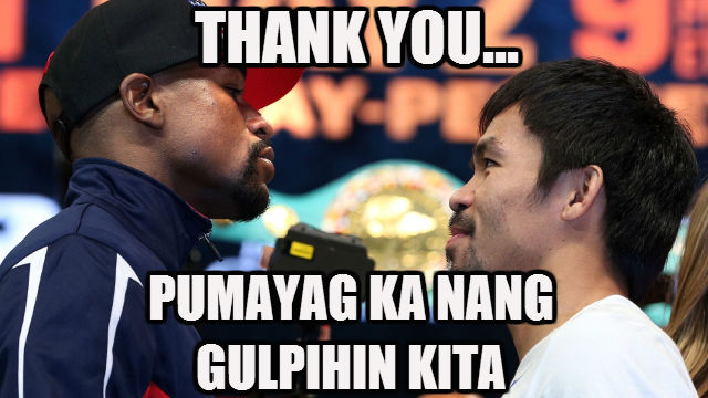 The Many (Possible) Reasons Why Pacquiao Thanked Mayweather At The #WeighInOfTheCentury