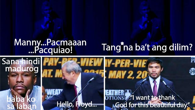 #PressConOfTheCentury: What Mayweather, Pacquiao, And The Rest Really Wanted To Say