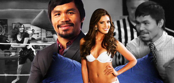Manny Pacquaio Loses Again! In A Pillow Fight! Against A Pretty Girl!