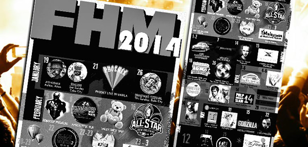 Because We're Bros: Check Out FHM's 2014 Man Planner!