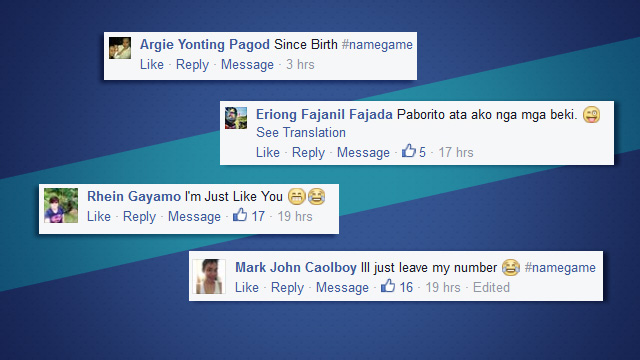 #NameGame: The Funniest Surnames Of FHM's Facebook Subscribers!