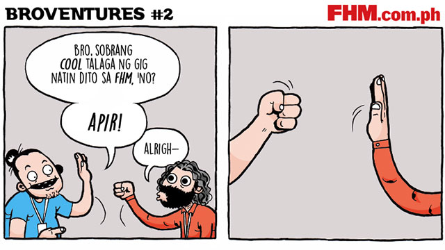 Libreng Komiks On FHM: Broventures #2 - 'Hand Shakes'