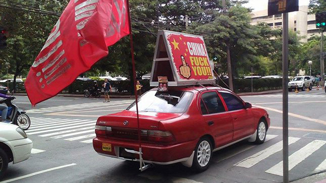 This Car Has Been Proclaiming Its Hate For China Around Metro Manila