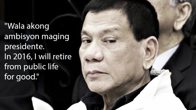 Duterte Has Just Announced His Final Plans Regarding The 2016 Presidential Elections