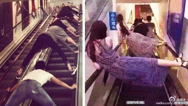 How Some Chinese Citizens Are Now Riding Escalators After That Horrific Accident