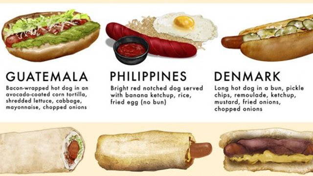 Delicious Illustration Shows 40 Ways The World Eats Its Hotdogs
