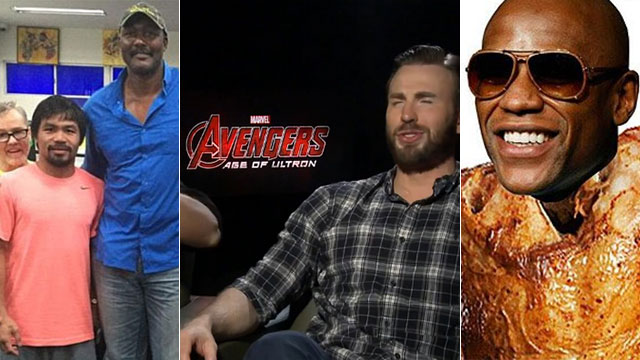 FHM's Weekly #MayPac Update: Karl Malone Visits Manny, Thor And Captain America Pick Their Bets, And The Mayweather Chicken Meal