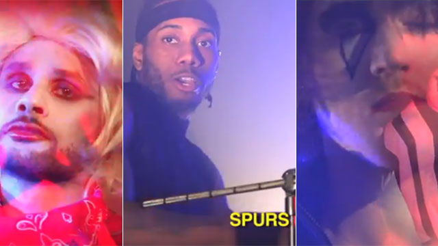 WEIRD, WEIRD WEB: Spurs Players Star In A Makeup-Filled '80s-Themed Music Video