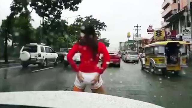 WATCH: Pretty Girl Gets Pissed At Traffic, Gets Out Of Car And Dances