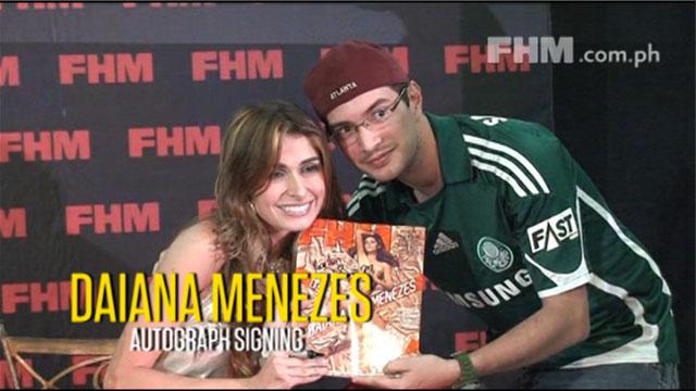 Daiana Menezes FHM Signing