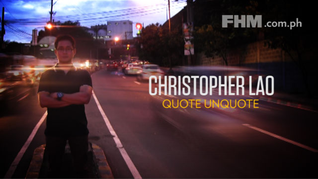 QUOTE/UNQOUTE: Christopher Lao