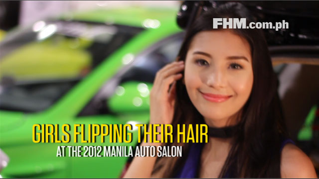 Girls Flipping Their Hair at the 2012 Manila Auto Salon