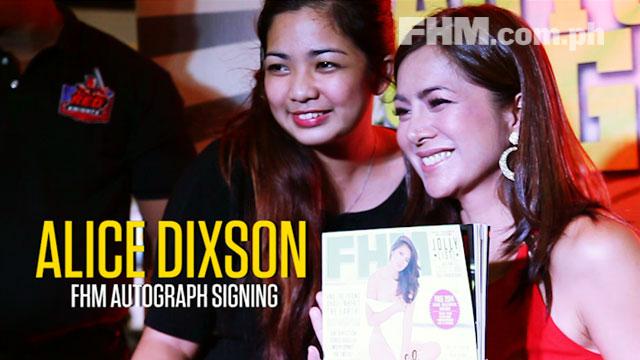 Alice Dixson FHM Autograph Signing