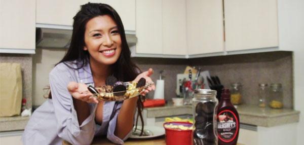 FHM Lingerie Kitchen: Sunshine Garcia's Sweet Banana Split!