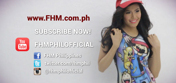Myrtle Sarrosa Wants You To Subscribe To FHM Philippines YouTube Channel!