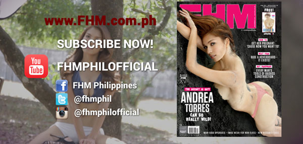 Andrea Torres Wants You To Subscribe To FHM Philippines YouTube Channel!