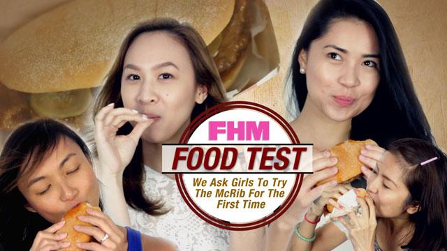 FHM Food Test: Girls Take On McDonalds' McRib!