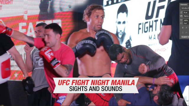 #UFCManila: All The Big Moments Before The Big Fight Tonight