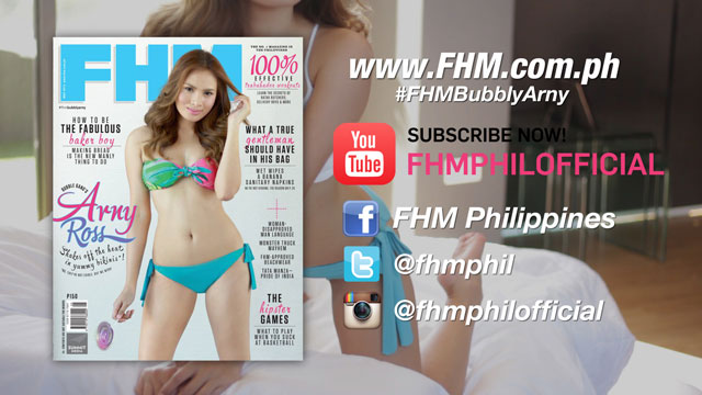 Arny Ross Wants You To Subscribe To FHM Philippines' YouTube Channel!