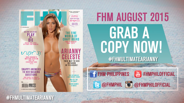 #FHMUltimateArianny: Here's A Sneak Peek At Our Arianny Celeste-Headlined August Issue!