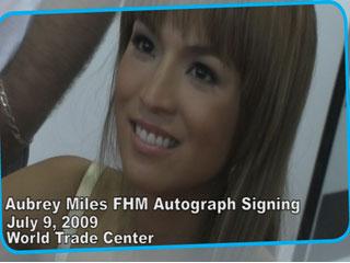 Aubrey Miles FHM Autograph Signing