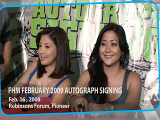 FHM February 2009 Cover Girls Autograph Signing