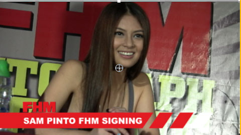 Sam Pinto FHM Autograph Signing