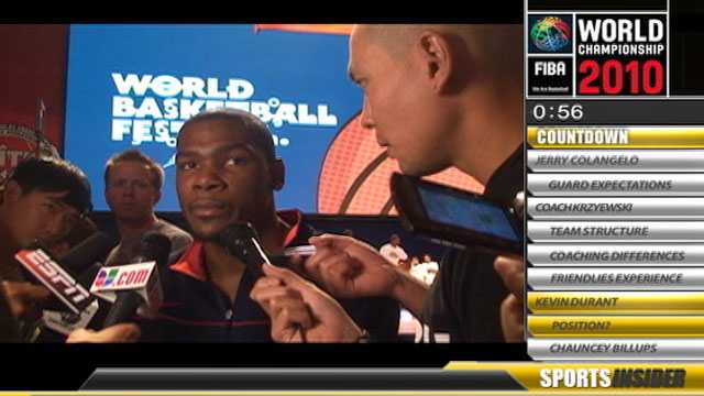 Sports Insider: Kevin Durant on the FIBA 2010
