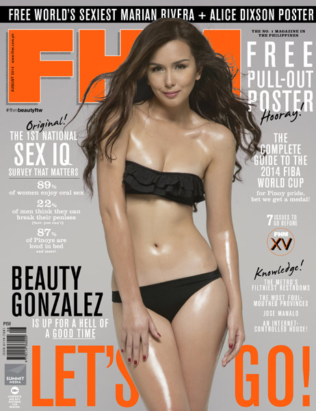 Beauty Gonzalez Is FHM's August 2014 Cover Girl!